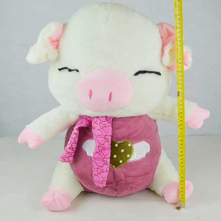 特价可爱围巾猪毛绒玩具猪大中号公仔猪布娃娃女生