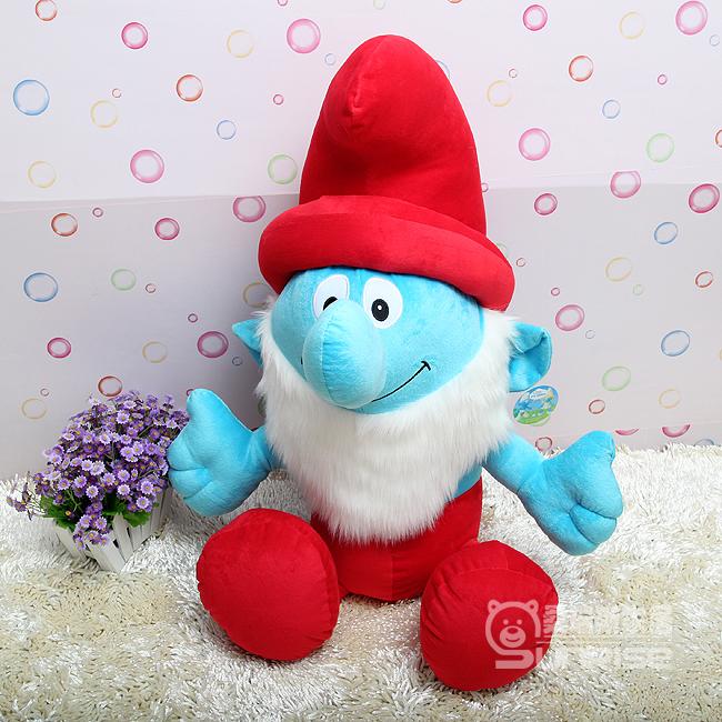 儿童生日礼物女 可爱蓝精灵公仔玩偶大号毛绒
