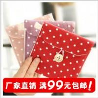 厂家直销 韩国清新棉麻卫生巾收纳包 卫生棉包 卫生巾包