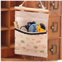 韩版家居 可爱蝴蝶结 单兜布艺挂袋 收纳袋 储物袋 墙壁挂袋
