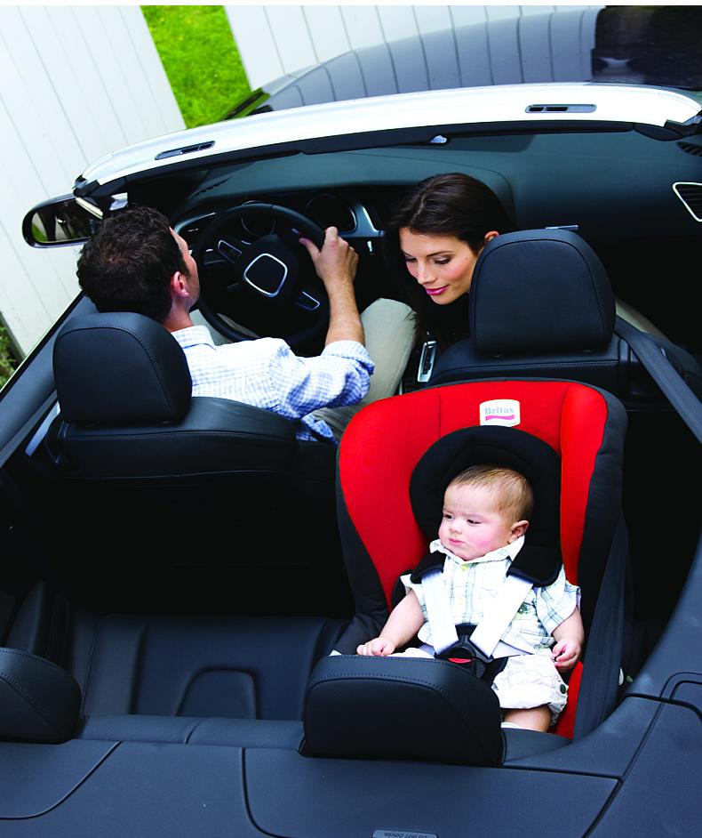 得适头等舱 新生儿童汽车安全座椅0-4岁可正反向安装