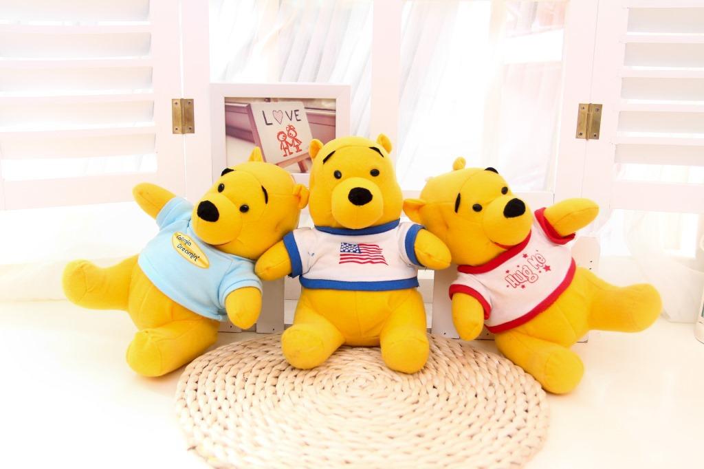 可爱小熊公仔穿衣熊玩具 可以加印logo