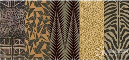 装饰艺术风格图案混搭/几何造型/拼贴风格设计/动物