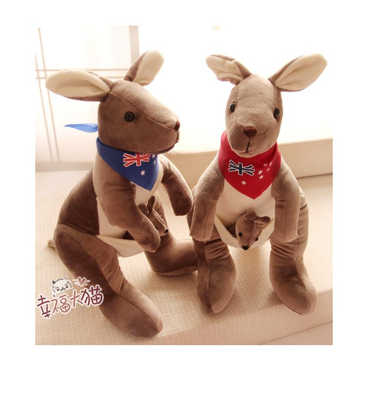 毛绒公仔 澳大利亚大袋鼠玩具玩偶娃娃