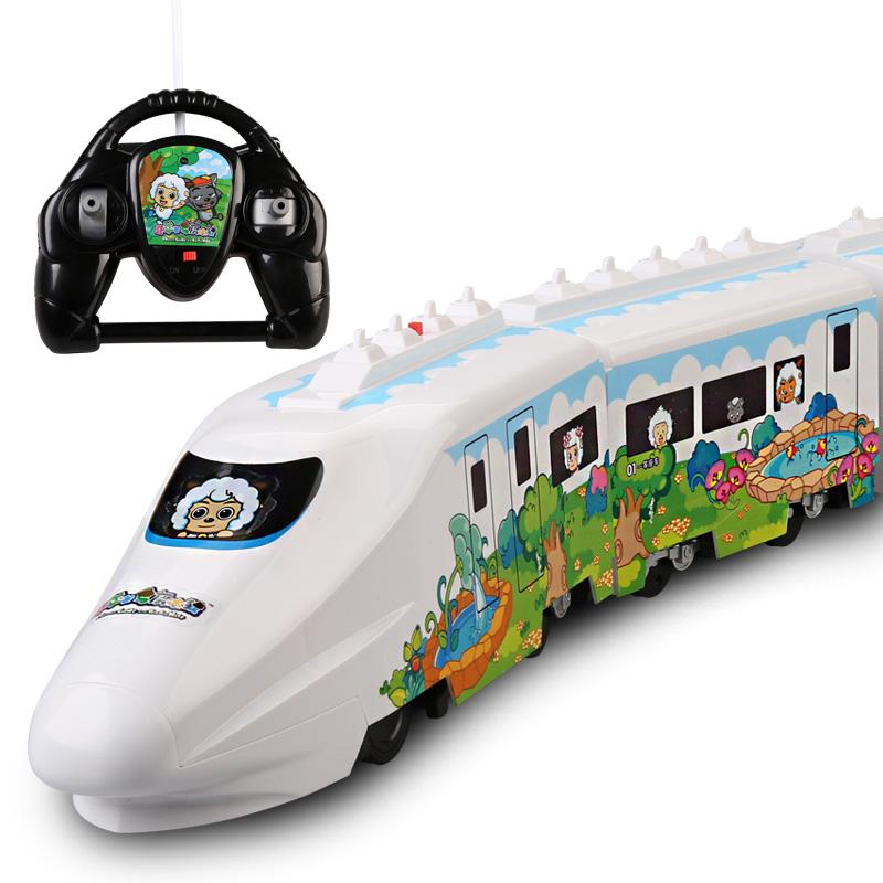 喜羊羊遥控火车 男孩儿童玩具和谐号