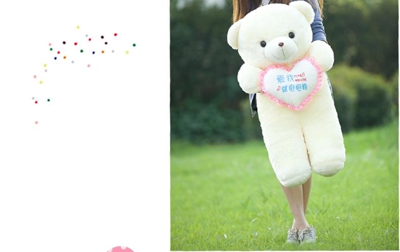 可爱情人节布娃娃抱心熊大号毛绒玩具泰迪熊抱抱熊女